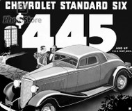 1933 Chevrolet Standard Coupe Ad Poster