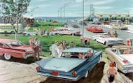 1959 General Motors Models Artwork Poster
