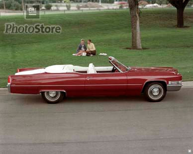1969 Cadillac DeVille Convertible Poster - GMPhotoStore