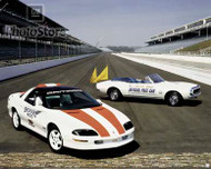 1997 and 1967 Chevrolet Camaro Pace Cars Poster