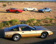 4 Generations of the Corvette Poster