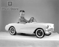 1956 Chevrolet Kiddie Corvette Fun Car Poster