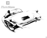 1955 Chevrolet Corvette Roadster Poster