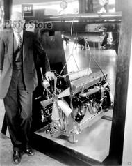 1930 Cadillac V16 Show Engine Poster