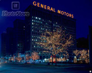 1960 GM Headquarters at Christmas Poster