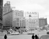 1954 Downtown Detroit - Campus Martius Poster