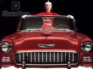 1955 Chevrolet Bel Air Convertible Poster