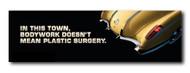 Corvette Metal Sign - In this town, bodywork...
