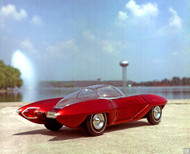 1961 GM Sports Car 1/12 Scale Model Concept Poster