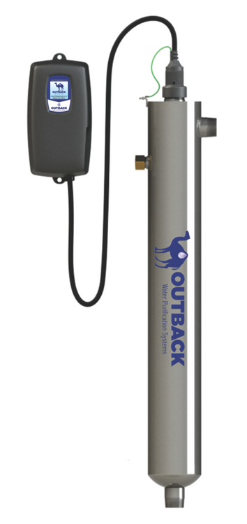 Water disinfection UV system designed to handle hot water application perfect for the treatment of hot water recirculation loops and for controlling Legionella bacteria