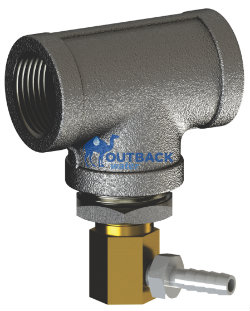 "Temperature management release valve use with UV water purification system using 3/4"" pipe size"