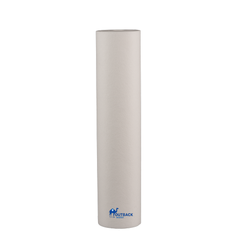 "White 20"" x 4.5"" 5 micron sediment pre-filter with no end caps for UV systems"