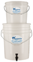 Non electric water purifier, simple to use ideal for emergency and self reliant situations removes bacteria and cysts as well as bad odor smells and tastes
