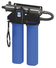Ultra violet drinking water system with sediment and carbon pre filter purifies contaminated water making it safe to drink
