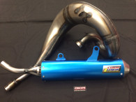 Yamaha YZ250 05 > HGS Exhaust System with Anodised Blue Muffler