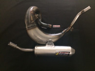 HGS KTM SX65 09 -15 EXHAUST SYSTEM WITH SILVER MUFFLER