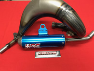 HGS KTM SX85 2018-2019 EXHAUST SYSTEM WITH BLUE MUFFLER