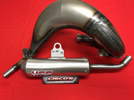 HGS HUSQVARNA TC85 2018 EXHAUST SYSTEM WITH SILVER MUFFLER