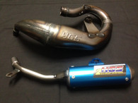 HGS KTM SX 50 2009-2015  EXHAUST SYSTEM WITH BLUE MUFFLER