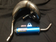 KTM SX 65 2009-2015 HGS EXHAUST SYSTEM WITH BLUE MUFFLER