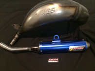 HGS KTM SX125 2019 EXHAUST SYSTEM WITH BLUE MUFFLER