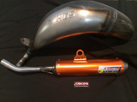 HGS KTM SX125 2019 EXHAUST SYSTEM WITH ORANGE MUFFLER