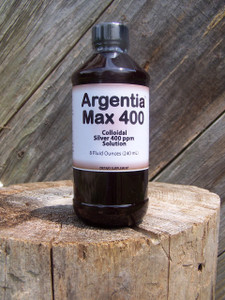 Argentia Max 400 ppm Colloidal Silver Solution, 8 oz.