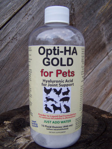 Opti-HA Hyaluronan Gold Powder-to-Gel for Pets, 15 oz.