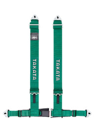 "Takata DRIFT III Snap / Bolt - 4 Point 3"" Racing Seat Belt Harness (Green or Black)"