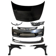06-11 Honda Civic JDM Type-R Front End Conversion Sedan