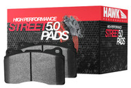 06-11 Honda Civic Si Hawk HPS 5.0 Brake Pads (Front and Rear) (HB361B.622 / HB145B.570 )