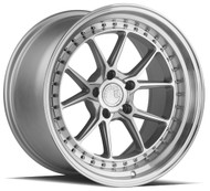 Aodhan DS08 DS-08 Wheels Silver w/ Machined Lip
