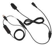 USB headset training adapter for Plantronics, Jabra or Smith Corona headsets
