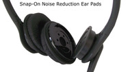 Snap-On noise reduction ear pads
