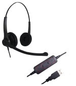 Refurbished USB headset Binaural Voicelync