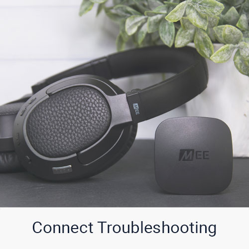 connect transmitter and headphone troubleshooting