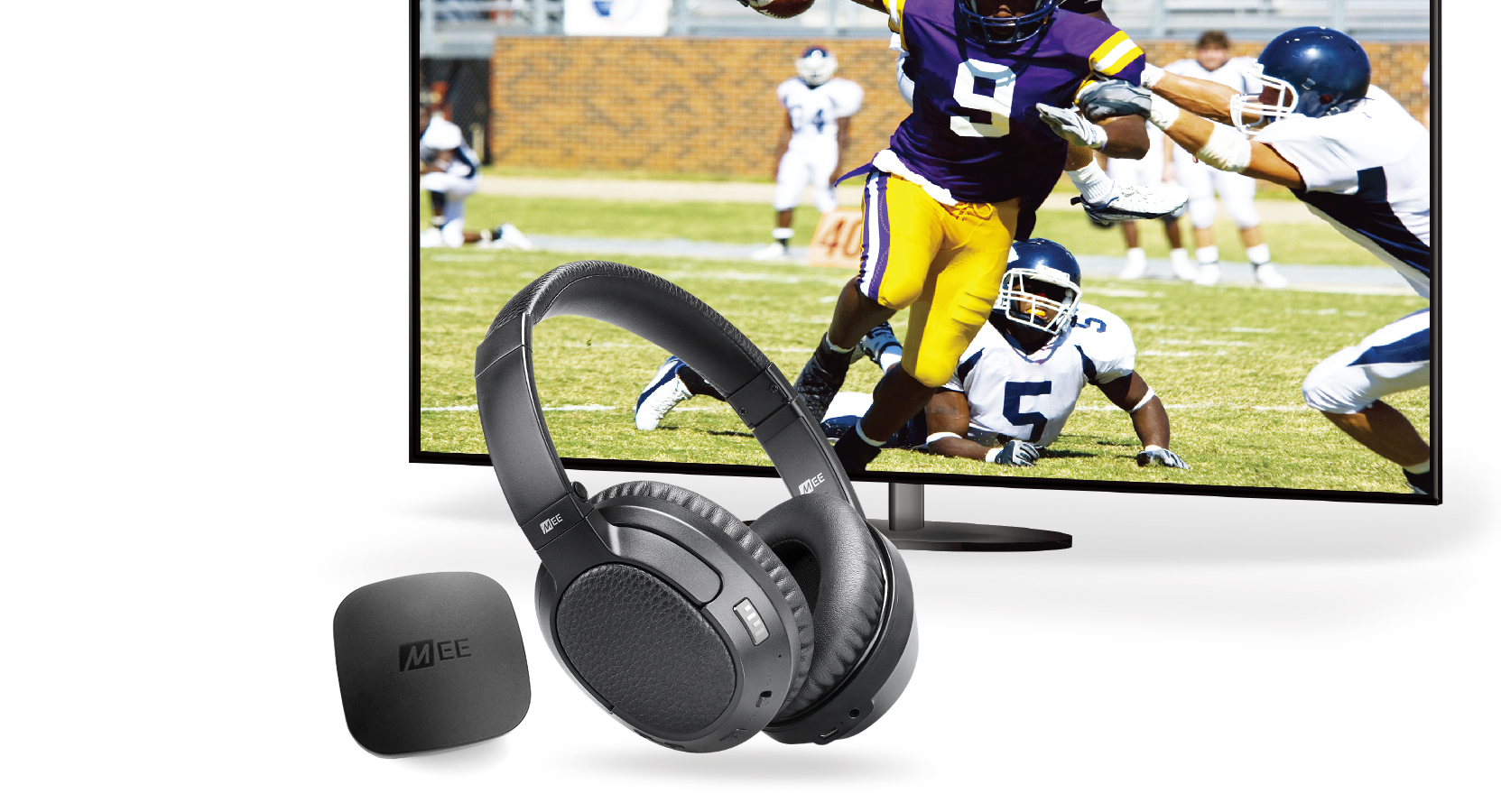 Connect T1CMA Bluetooth Wireless Headphone System for TV - Includes Audio  Transmitter and Matrix Cinema Low Latency Bluetooth Headphones