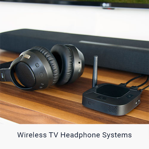 Wireless Transmitter and Headphones for TV