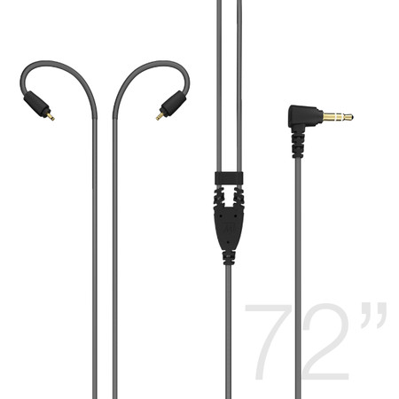 72-inch Extended-length Stereo Audio Cable for MX PRO and M6 PRO In-Ear Monitors (Black)