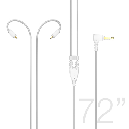 72-inch Extended-length Stereo Audio Cable for MX PRO and M6 PRO In-Ear Monitors (Clear)