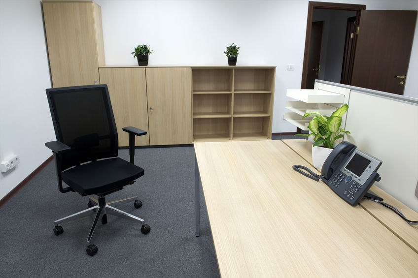 Bright Airy Office Without Window