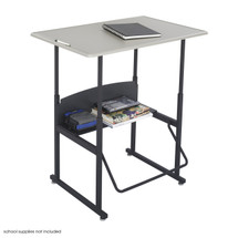 Safco AlphaBetter® Desk, 36 x 24 Standard Top, w/o Book Box