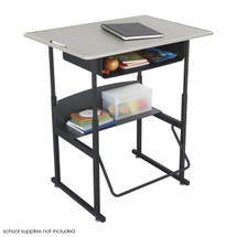 Safco AlphaBetter® Desk, 36 x 24 Standard Top with Book Box