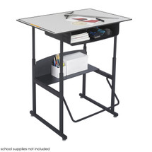 Safco AlphaBetter® Desk, 36 x 24 Premium Top, with Book Box