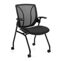 ROMA-Mesh Medium Back - Flip Seat Nesting Armchair 1899BK-UR22