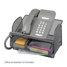 Safco Onyx™ Mesh Telephone Stand With Drawer (Qty.5)