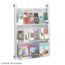 Safco Luxe™ Magazine Rack - 9 pocket