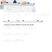 "Safco 36"" Hanging Clamps for 36"" x 48"" Sheets  (Qty. 6)"