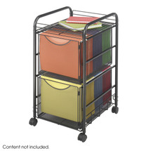 Safco Onyx™ Mesh File Cart with 2 File Drawers