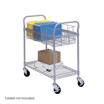 """Safco Wire Mail Cart, 24""""W"""